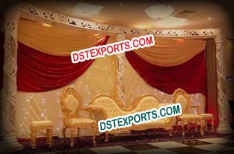 Asian Wedding Stylish Gold Furniture For Wedding