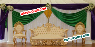 Royal Asian Wedding Gold Furniture Set
