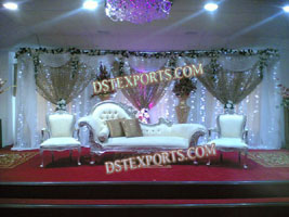 ASIAN WEDDING SILVER ITALIAN SOFA SET