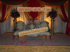 ASIAN WEDDING SILVER VICTORIAN SOFA