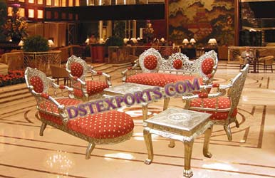 ASIAN WEDDING SOFA SET WITH STOOLS