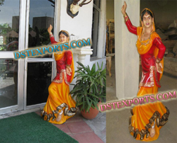 WELCOME PUNJABI LADY STATUE
