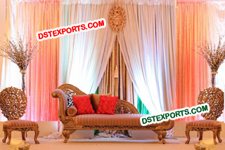 Asian Wedding Mehandi Furniture Set