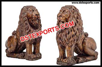 Fiber Lion Statue For Entrance