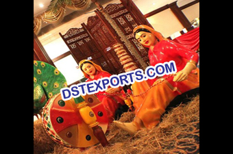 Punjabi Wedding Fiber Statues