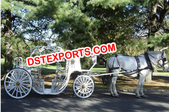 New Cinderala Wedding Horse Carriages
