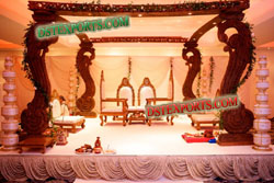 INDIAN WEDDING SQUARE WOODEN MANDAP