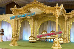 INDIAN WEDDING TRADITIONAL WOODEN MANDAP SET