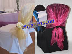 NEW WEDDING DESIGNER SASHAS AND CHAIR COVERS