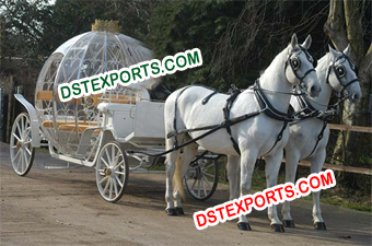 Cinderella Double Horse Drawn Carriage