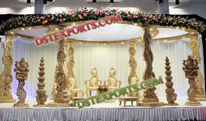 NEW DESIGN WEDDING WOODEN MANDAP