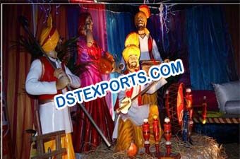 Punjabi Wedding Decoration Statue