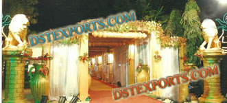 INDIAN WEDDING LION WELCOME GATES