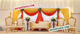 Pakistani Wedding Stage Furniture Set