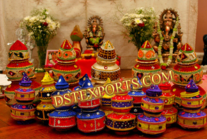WEDDING COLOURFUL DECORATIVE POTS