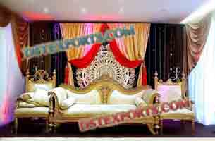 MUSLIM WEDDING CARVED SOFA SET