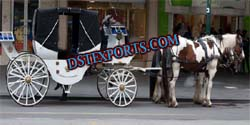 HORSE DRAWN DOUBLE HOOD CARRIAGE