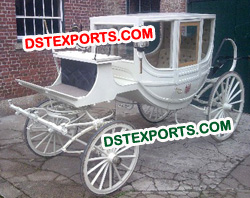 ROYAL WHITE HORSE BUGGY
