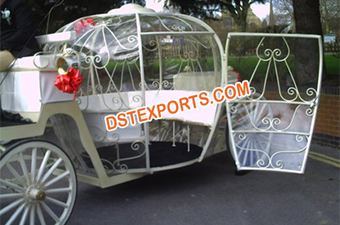 Cinderala White Carriage With Door