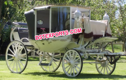 HORSE DRAWN COVERED CARRIAGE