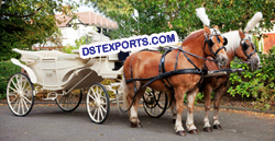 ANTIQUE HORSE DRAWN BUGGY