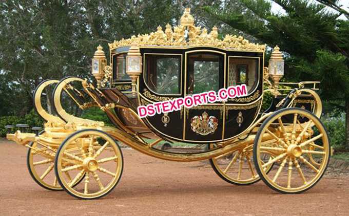 New  Beautiful  Royal Gold Carriages