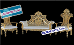 Royal Asain Wedding Gold Furniture Set