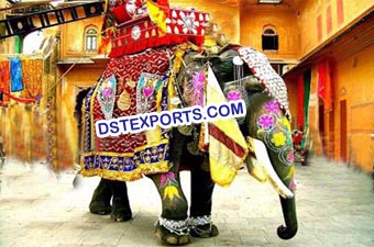 Decorated Elephant Horse Costumes