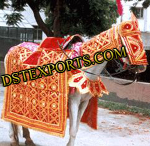 Wedding Designer Golden Horse Costume