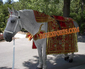 Indian Wedding Horse Costume With Kalash Design