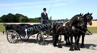 Wedding Double Horse Landaua Carriage