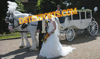Wedding White Covered Carriages