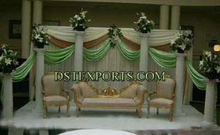 Latest  Wedding  Golden  Sofa  Set