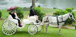 Two Seater Wedding Horse Carriage