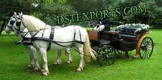 Black Victoria Double Horse Carriage