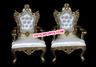 Asian Wedding Gold Metal Chairs