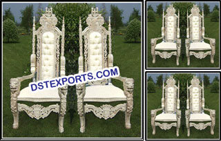 Wedding Birde & Groom Chair Set