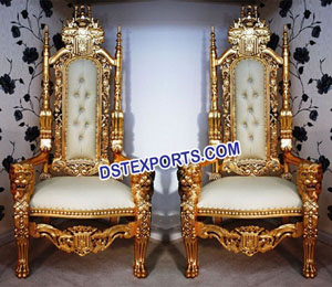 Royal Wedding Gold Chairs
