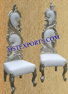 Latest Wedding Metal Leaf Chairs Set