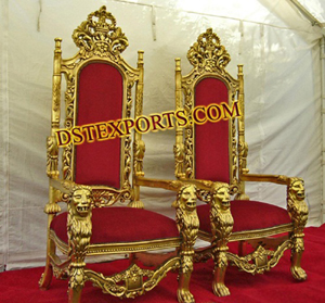 Shadi Stage Golden Chairs