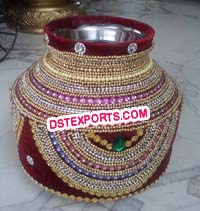 Indian Wedding Decorated Hand Made Pots/Matkas