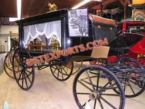 Traditional Black Funeral Carriage
