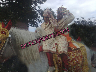 Wedding Embroidery Red Horse Costume