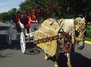 Indian Baraat Golden Horse Costume