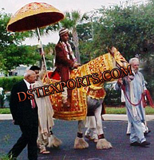 Wedding Horse Costumes With Umbrella
