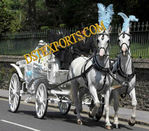 Double Horse Wedding Carriage