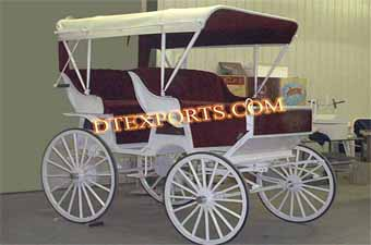 Double Seater Wedding Horse Carriage
