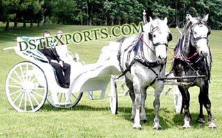 New Wedding Double Horse Carriage