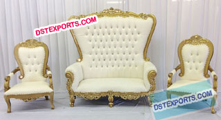 Wedding Royal Golden Throne Set