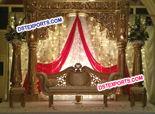 Asian Wedding Royal Gold Stage